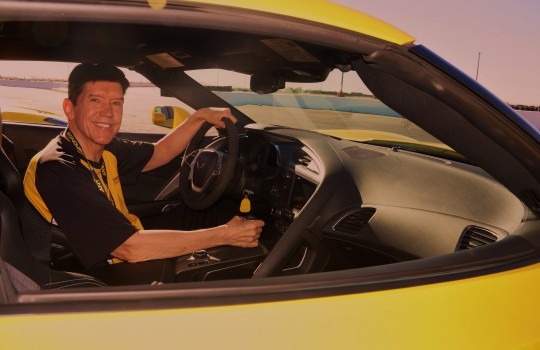 Patrick at the Bob Bondurant Driving School